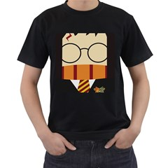 Harry Potter Cartoon Men s T Shirt (black) (two Sided) by Samandel
