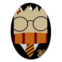 Harry Potter Cartoon Oval Ornament (two Sides) by Samandel