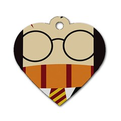 Harry Potter Cartoon Dog Tag Heart (one Side) by Samandel