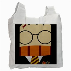 Harry Potter Cartoon Recycle Bag (two Side)  by Samandel