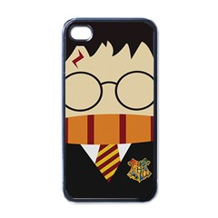 Harry Potter Cartoon Apple Iphone 4 Case (black) by Samandel