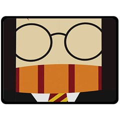 Harry Potter Cartoon Double Sided Fleece Blanket (large)  by Samandel