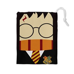 Harry Potter Cartoon Drawstring Pouches (large)  by Samandel