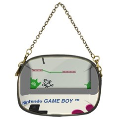 Game Boy White Chain Purses (one Side)  by Samandel