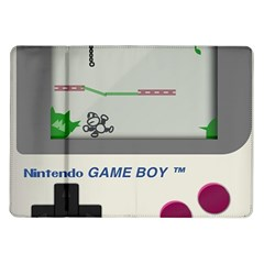 Game Boy White Samsung Galaxy Tab 10 1  P7500 Flip Case