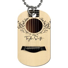 Classic Vintage Guitar Dog Tag (two Sides)