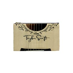 Classic Vintage Guitar Cosmetic Bag (small)  by Samandel