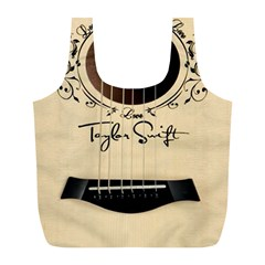 Classic Vintage Guitar Full Print Recycle Bags (l)