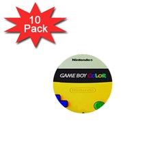 Game Boy Yellow 1  Mini Buttons (10 Pack)