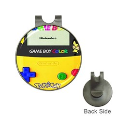 Game Boy Yellow Hat Clips With Golf Markers