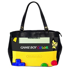 Game Boy Yellow Office Handbags (2 Sides)  by Samandel