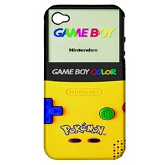 Game Boy Yellow Apple Iphone 4/4s Hardshell Case (pc+silicone) by Samandel