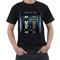 Tardis Sherlock Holmes 221b Men s T Shirt (black) (two Sided)
