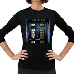 Tardis Sherlock Holmes 221b Women s Long Sleeve Dark T Shirts