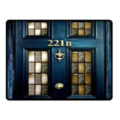 Tardis Sherlock Holmes 221b Fleece Blanket (small) by Samandel