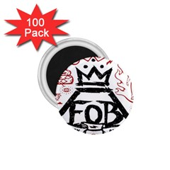 Save Rock And Roll Fob Fall Out Boy 1 75  Magnets (100 Pack)