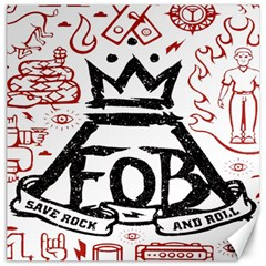 Save Rock And Roll Fob Fall Out Boy Canvas 12  X 12   by Samandel