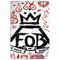 Save Rock And Roll Fob Fall Out Boy Canvas 24  X 36  by Samandel