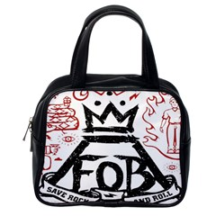 Save Rock And Roll Fob Fall Out Boy Classic Handbags (one Side) by Samandel