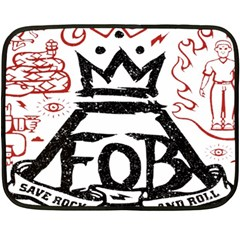 Save Rock And Roll Fob Fall Out Boy Double Sided Fleece Blanket (mini)  by Samandel