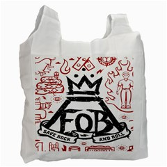Save Rock And Roll Fob Fall Out Boy Recycle Bag (two Side)  by Samandel
