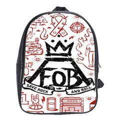 Save Rock And Roll Fob Fall Out Boy School Bag (large)