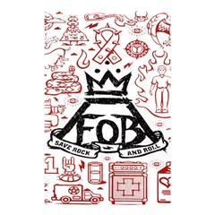 Save Rock And Roll Fob Fall Out Boy Shower Curtain 48  X 72  (small)