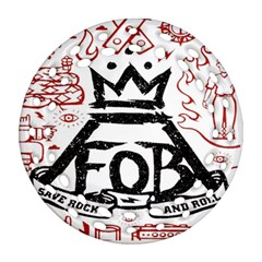 Save Rock And Roll Fob Fall Out Boy Round Filigree Ornament (two Sides) by Samandel
