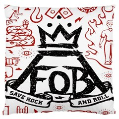 Save Rock And Roll Fob Fall Out Boy Large Cushion Case (two Sides) by Samandel