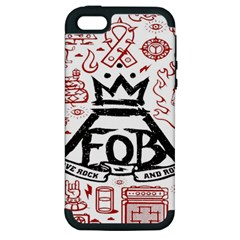 Save Rock And Roll Fob Fall Out Boy Apple Iphone 5 Hardshell Case (pc+silicone) by Samandel