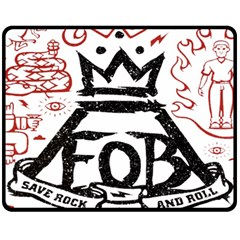 Save Rock And Roll Fob Fall Out Boy Double Sided Fleece Blanket (medium)  by Samandel
