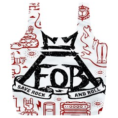 Save Rock And Roll Fob Fall Out Boy Full Print Recycle Bags (l)  by Samandel
