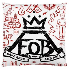 Save Rock And Roll Fob Fall Out Boy Large Flano Cushion Case (two Sides)