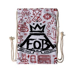 Save Rock And Roll Fob Fall Out Boy Drawstring Bag (small) by Samandel