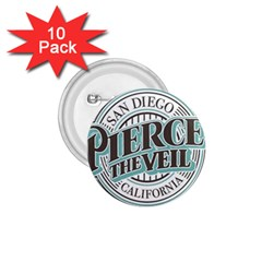 Pierce The Veil San Diego California 1 75  Buttons (10 Pack) by Samandel