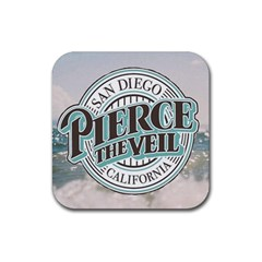 Pierce The Veil San Diego California Rubber Square Coaster (4 Pack)  by Samandel