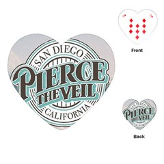 Pierce The Veil San Diego California Playing Cards (heart)  by Samandel