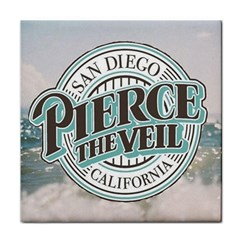 Pierce The Veil San Diego California Face Towel by Samandel