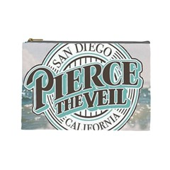 Pierce The Veil San Diego California Cosmetic Bag (large)  by Samandel
