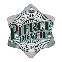 Pierce The Veil San Diego California Snowflake Ornament (two Sides) by Samandel