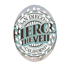 Pierce The Veil San Diego California Oval Filigree Ornament (two Sides) by Samandel