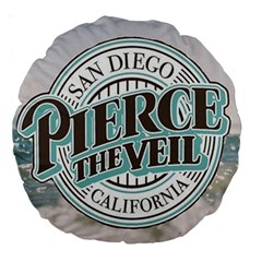Pierce The Veil San Diego California Large 18  Premium Round Cushions