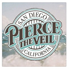 Pierce The Veil San Diego California Large Satin Scarf (square) by Samandel