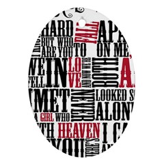 Pierce The Veil Hell Above Lyrics Poster Ornament (oval) by Samandel