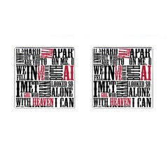Pierce The Veil Hell Above Lyrics Poster Cufflinks (square) by Samandel
