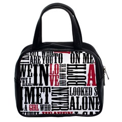 Pierce The Veil Hell Above Lyrics Poster Classic Handbags (2 Sides)