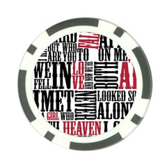 Pierce The Veil Hell Above Lyrics Poster Poker Chip Card Guard (10 Pack) by Samandel
