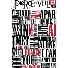 Pierce The Veil Hell Above Lyrics Poster 5 5  X 8 5  Notebooks by Samandel