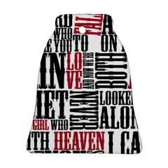 Pierce The Veil Hell Above Lyrics Poster Bell Ornament (two Sides) by Samandel