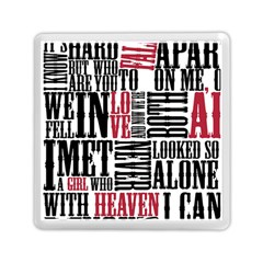 Pierce The Veil Hell Above Lyrics Poster Memory Card Reader (square)  by Samandel